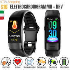 SMARTWATCH OROLOGIO S16 SMART BAND FITNESS TRACKER SPORT IOS ANDROID ECG HRV