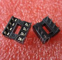 50PCS 8pins DIL DIP IC Socket PCB Mount Connector NEW 8-Pin