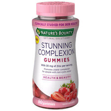 Nature's Bounty Stunning Complexion with Zinc for non-cystic acne mixed berry 60