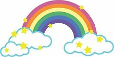 sticker decal car kitchen room rainbow stars kid funny sky vinyl