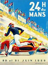 SPORT MOTOR RACE 24 HOUR LE MANS FRANCE ART PRINT POSTER BB9450