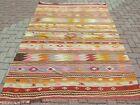 Vintage Turkish Kilim  5x8 Rug  Kelim  Teppich  Tapis  Carpet 61 x89  Area Rugs
