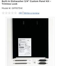 Ge Built in Dishwasher 3/4� Custom Panel Kit Trimless Look White