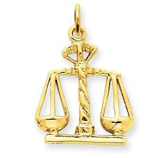 14k Solid Yellow Gold Scales Of Justice Charm - 4049A - SKU #118601