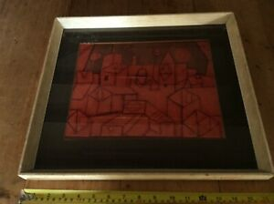 VINTAGE REPRODUCTION PAUL KLEE PICTURE AS FOUND ATTIC FIND