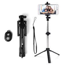 Extendable Tripod Selfie Stick Bluetooth Remote Shutter For Samsung LG HTC