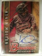 2017 Bowman Chrome Draft Kevin Maitan RC Defining Moments Red Refractor Auto 3/5