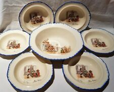 Parrot & Co Coronet Ware Nell Gwyn Dessert Set 1 x Large Bowl + 6 Bowls c1921-59