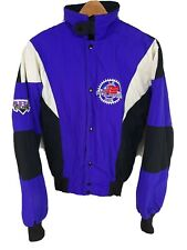 Vintage 1997 Polaris Snowmobile Coat Jacket Mens Small Black Purple L.E. Club