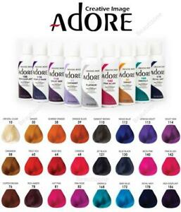 ADORE SEMI PERMANENT HAIR COLOUR /  ALCOHOL FREE 118ml-All Colors Available