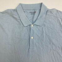 UNTUCKit Polo Shirt Men's 3XL XXXL Short Sleeve Blue 100% Pima Cotton Casual