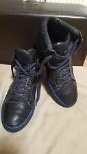 LANVIN Made in Italy Soft Leather Men's Boots -size UK 9- Dark Blue