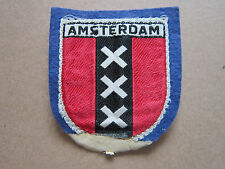 Amsterdam Woven Cloth Patch Badge