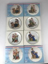 "Vintage 1984 Lot of 4 Norman Rockwell Museum  6-1/2"" Collector Plates. W/Boxes."