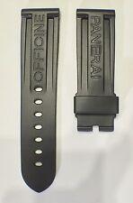 24mm Lug Larghezza Nero PU Gomma Cinturino Orologio progettato per orologio robusto NUOVO Panerai
