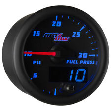 MaxTow 52mm Black & Blue Double Vision 30 PSI Fuel Pressure Gauge - MT-BDV11_30