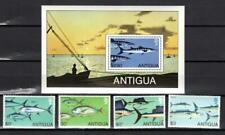 [AB] ANTIGUA 1979 FISH AND MARINE LIFE, SET OF 4 STAMPS + S/SHEETS.
