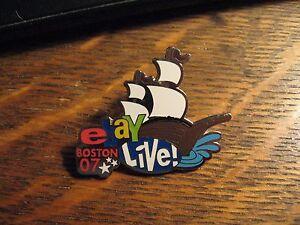 Ebay Live Lapel Pin - Boston Massachusetts USA 2007 Conference Ship Lapel Pin