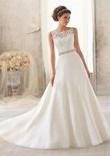 New Ivory Wedding Dress Bridal Bride Gown custom size 8