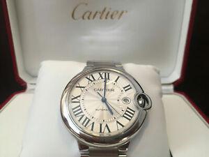 *Cartier *Ballon *Bleu *42mm- Large* Mens* Mint8 Automatic*SS **Montre-bracelet*