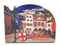Freiburg Breisgau Holz 2D Magnet 10 cm Souvenir Germany (675)