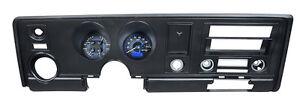 Dakota Digital 69 Pontiac Firebird Analog Gauge Kit Carbon Blue VHX-69P-FIR-C-B