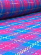 Telas y tejidos de tartán de tela por metros para costura y mercería