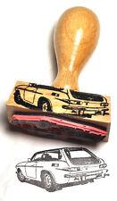 """Volvo 1800ES (""""Schneewittchensarg"""") als Stempel mit Holzgriff - rubberstamp"""