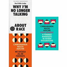 Dear Ijeawele We Should All Be Feminists about race 3 Books Collection Set NEW