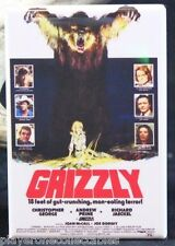 """Grizzly Movie Poster - 2"""" X 3"""" Fridge / Locker Magnet. Christopher George"""