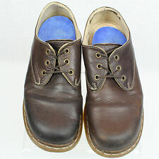 Doc Dr Martens Men Brown Leather Lace-Up Shoe Sz UK 7 US 8 Made in England EUC