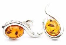 Bellissimo Argento 925 & ambra baltica di marca orecchini SilverAmber GL001