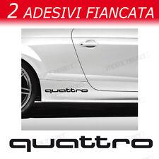 ADESIVI AUDI QUATTRO fiancata  A1 A3 A4 A5 A6 Q3 Q5 Q7 TT S line decal stickers