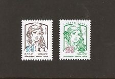 2018  Timbres Marianne N° 5234 et 5235 SURCHARGES 0.10 et 0.80 NEUFS ** LUXE