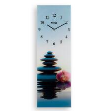 Quarz-Wanduhr aus Glas -Motiv STEINE- 25 x 75 x 4 cm