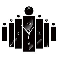 2021 Decoration vintage Luxury 3D Mirror Silver Wall Clock Modern Design Sticker