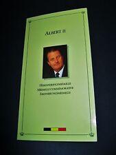 """Belgien  Medaille  1993  """"Albert II.""""  Proof  925'er Silber !!  im Folder  -"""
