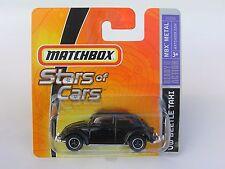 MATCHBOX DINKY STARS OF CARS (2006) '62 VW VOLKSWAGEN BUG BEETLE TAXI BLACK MOC