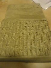 gold smock fabric shower curtain