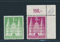 "BI-ZONE 1948, Mi. 97 + 99 wg **, ""Bauten"", tadellos!!"