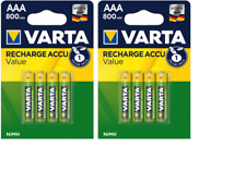 8 piles AAA VARTA rechargeables HR03 800 mAh