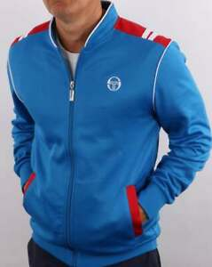 Sergio Tacchini Sammy Track Top in Royal Blue & Red - retro tracksuit jacket