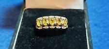 9ct Yellow Topaz & Diamond Ladies Ring.CC08