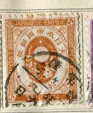 Il GIAPPONE; 1888 prima emissione classico KOBAN utilizzata valore 10s.