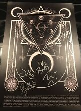 A Perfect Circle Autographed Poster Limited To Vip. Denver, Co October 2017.
