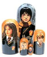"""Harry Potter 5 Piece Russian Collectible Stacking Nesting Doll  4""""H"""