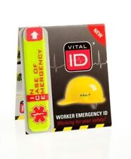 Hard Hat ID Stickers (Safety Helmet ICE Tag) - Worker Safety x 2