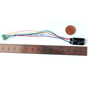 Laisdcc 4 function NEM 652 8-Pin DCC Decoder with Stay Alive options. UK Stock