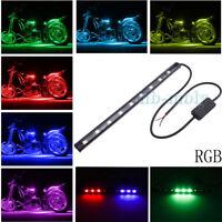 9LED Motorcycle Neon Strip Universal light 21cm Multi-Color Flexible Change 12V