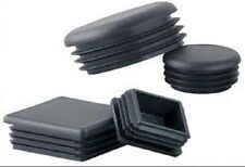 25 No 50mm X 50mm (2.6 - 5.0) SQUARE, RIBBED, HOLE BUNGS/PLASTIC INSERT, BLACK.